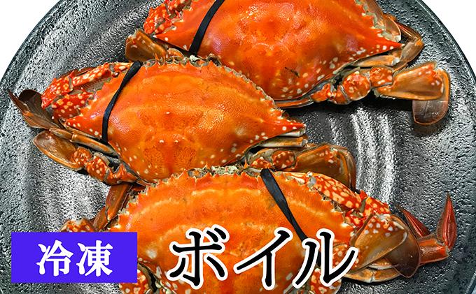 【亘理のワタリガニ】訳ありワタリガニ 3~5個(冷凍:ボイル)