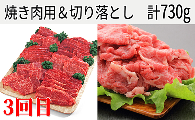 北海道木古内町のふるさと納税 【4ヶ月定期便】はこだて和牛 満喫セット