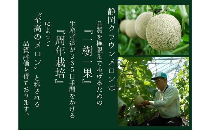 静岡県袋井市のふるさと納税 クラウンメロン(白上級)1玉 箱入り