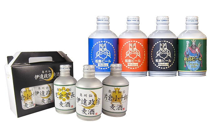 松島ビールと奥州仙台ビール 300ml缶 18本セット