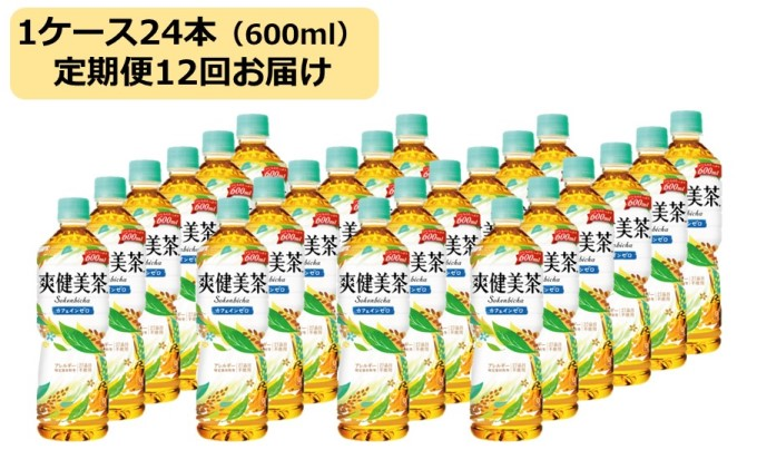 【定期便12回】爽健美茶 600ml 1ケース