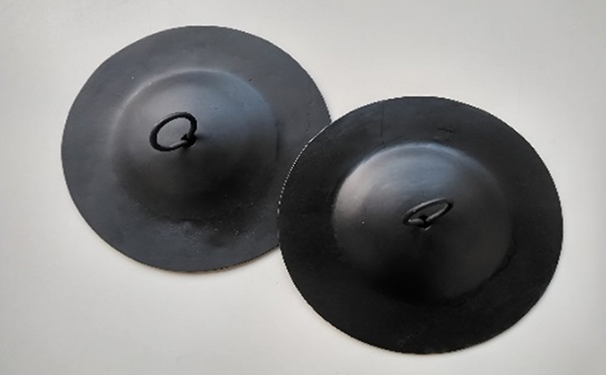 鉄製 手平鉦(てびらがね) ブラック