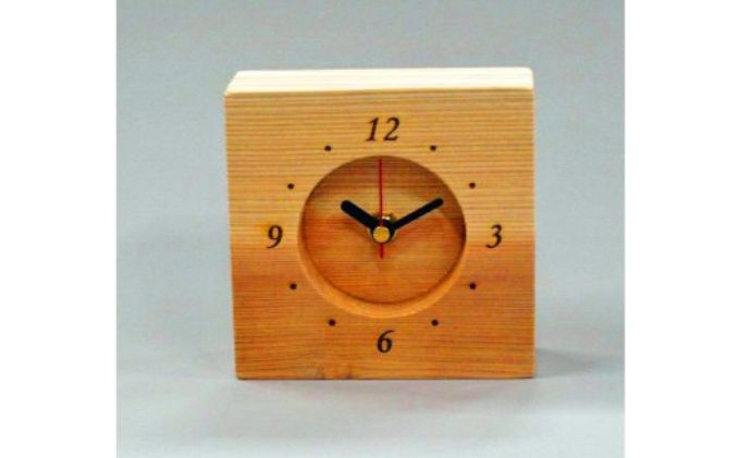 西川材 置き時計