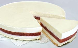 ルバーブチーズケーキセット