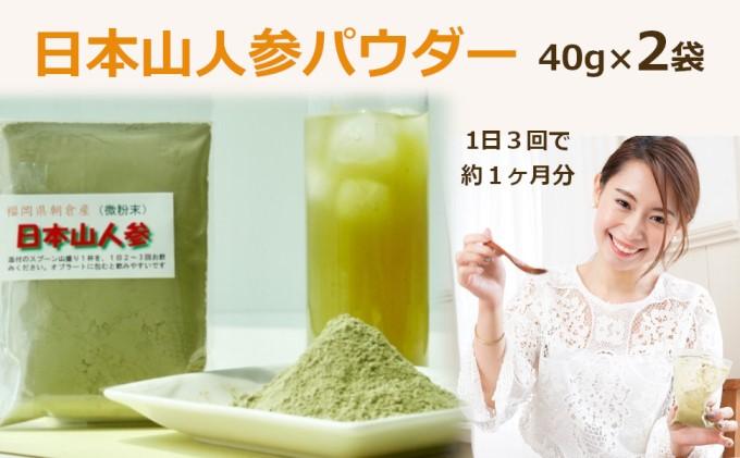 ★希少★日本山人参(葉と茎の粉末) 2袋