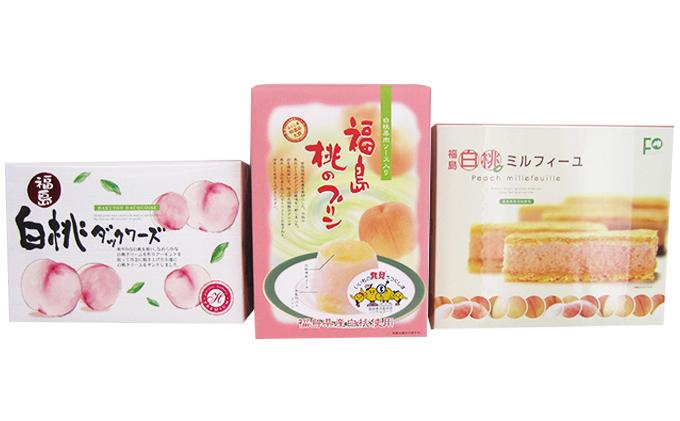 桃のお菓子3種詰め合わせ