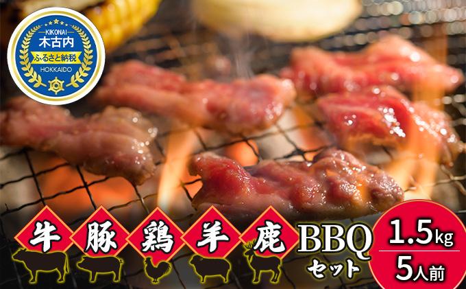 エンジョイ!BBQセット ~焼肉6種 5人前コース~