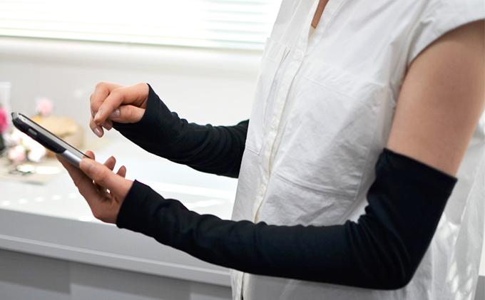 レディース柔らかUV手袋(40スムース)クレジット決済のみ