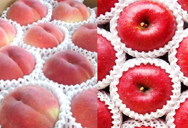 ★国見の恵みセット (もも、りんご)