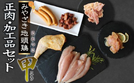 宮崎ブランド みやざき地頭鶏加工品・正肉セット(甲)