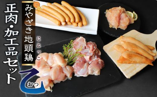 宮崎ブランド みやざき地頭鶏加工品・正肉セット(乙)