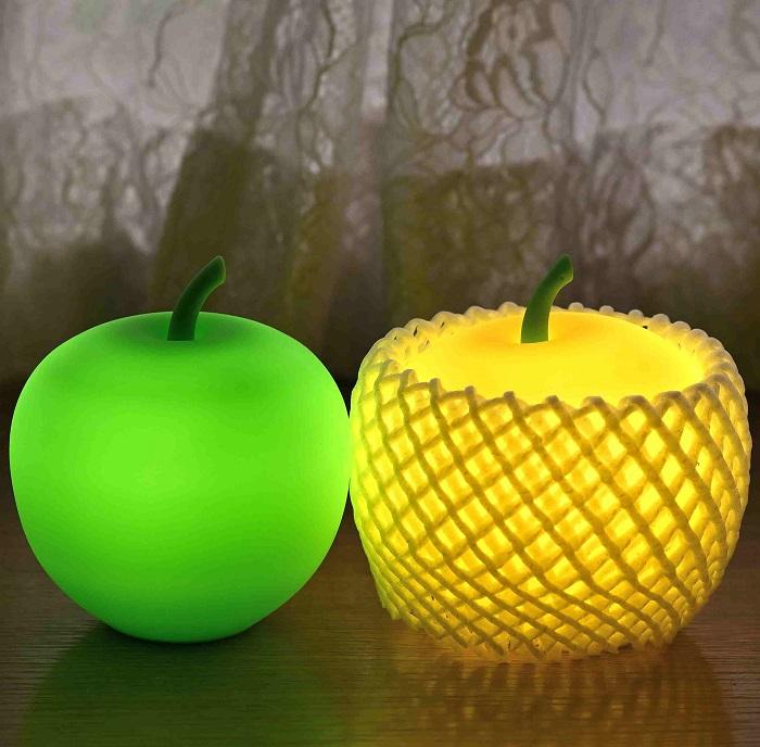 アップルライト(黄・緑)2個セット【LEDランタン】