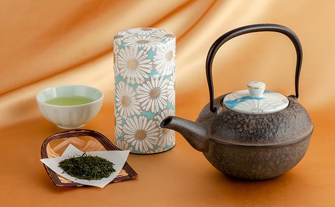 清水焼白菊鉄瓶急須と宇治茶