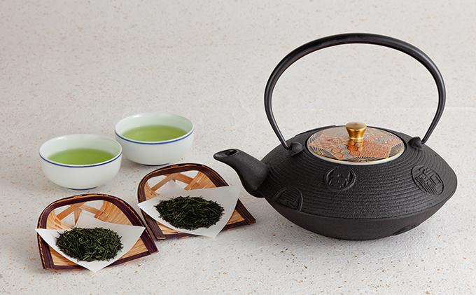 清水焼六小紋鉄瓶急須と宇治茶