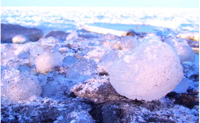 10-1 オホーツク海の流氷(5kg程度)
