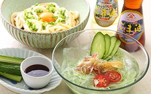 小豆島のおいしいオリーブ素麺とうどんとごま油のセット