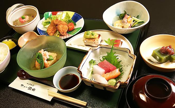 季節を味わう 和食膳「おまかせ御膳」2名様食事券 池田温泉券付