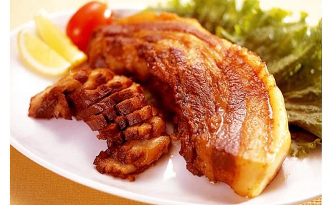 香川県綾川町のふるさと納税 焼き豚P 焼豚バラ肉300g×2