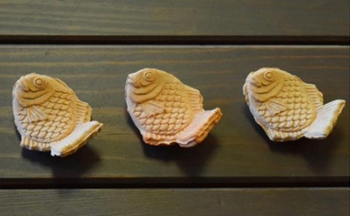 萩焼 たい焼きの箸置き 3客