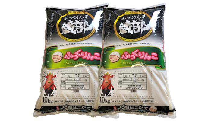 北海道木古内町のふるさと納税 函館育ち ふっくりんこ 10kg+10kg