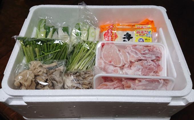比内地鶏 きりたんぽ鍋 セット 3人用(だまこもち付) 【アマノストア】