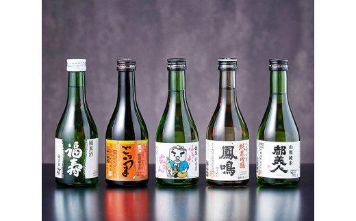 011FH001S.兵庫五国!隠れ名酒のほろ酔いセット(300ml×5本)