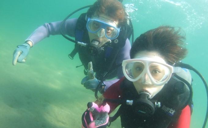 秋田県男鹿市のふるさと納税 【なまはげの海でダイビング!!】 海洋体験ビーチダイビング 4名様