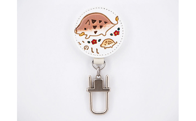 【文庫屋大関】ドアに冷蔵庫にペタリ 干支キーホルダー 亥【皮革工芸品】