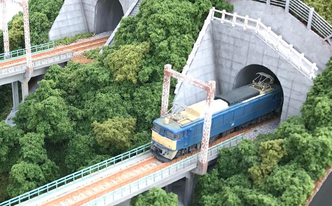 碓氷第三橋梁(コンクリート橋)Nゲージジオラマ