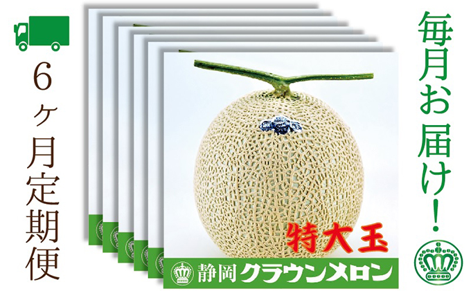 クラウンメロン特大玉 1玉入【6ヶ月定期便】