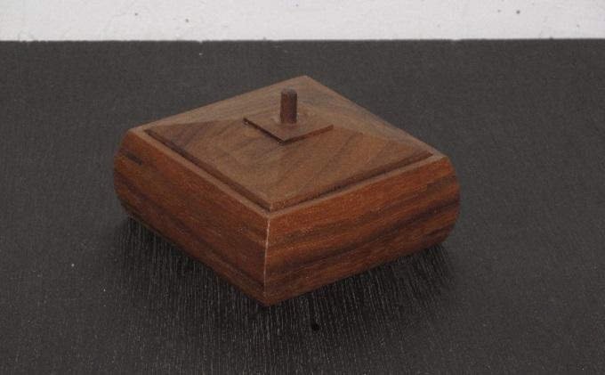 小さな胴丸箱 ウォールナット