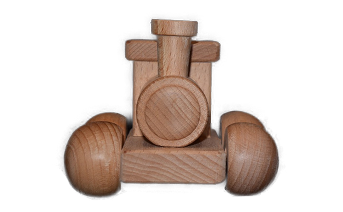 手作り木のおもちゃ 汽車ぽっぽ