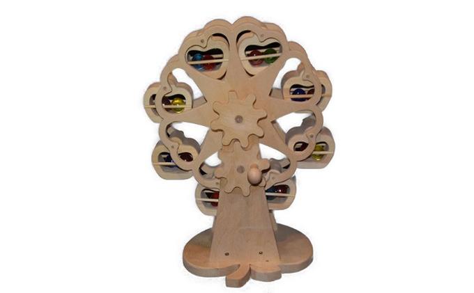 手作り木のおもちゃ 工作用煌めくミニ観覧車