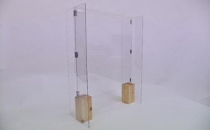 新型コロナウイルス対策飛沫防止パネルで全国を応援! 安定感のあるH型モデル 幅60cm×高さ80cm