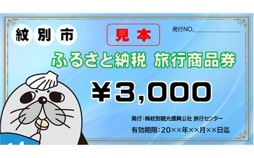 北海道紋別市のふるさと納税 10-253 紋別市ふるさと納税旅行商品券 3,000円分