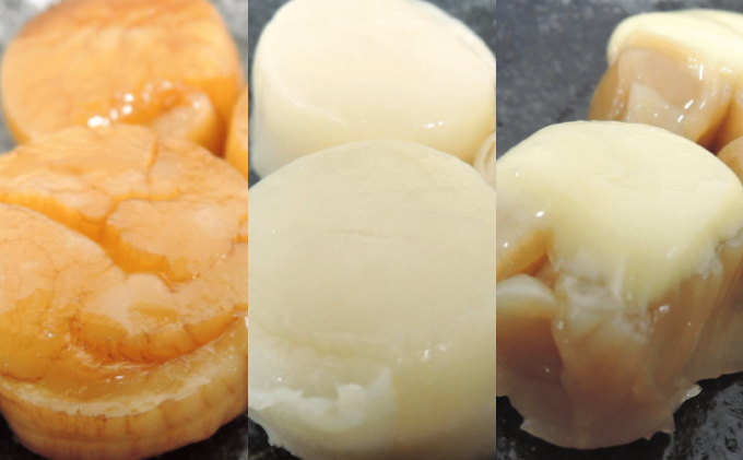 ほたて珍味3種(燻油漬5粒・ソフト貝柱5粒・チーズ帆立5粒)オホーツク佐呂間