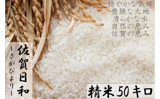 BG025 【令和元年産米】みやき町産『さがびより(精米50kg)』10年連続特A受賞