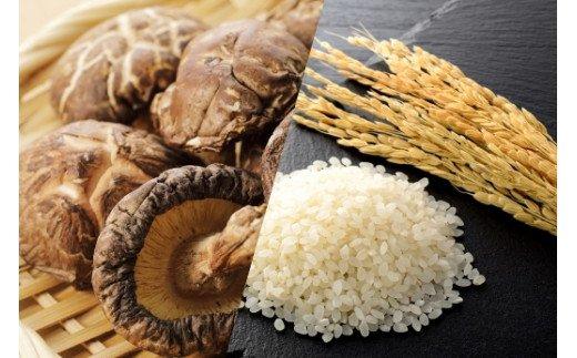DI003 みやき町産米5kgと佐賀県産おいしい乾燥シイタケ500g