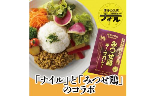 DR004 博多の名店ナイル みつせ鶏キーマカレーセット5パックセット