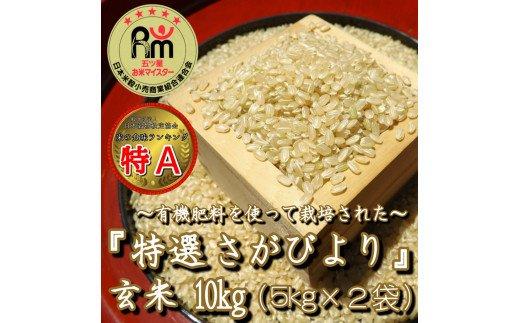 佐賀県みやき町のふるさと納税 CI022 「特選さがびより」玄米10kg(5kg×2袋)