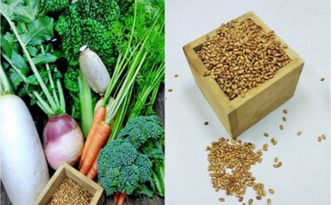 【京都産】自然栽培の野菜と赤米セット