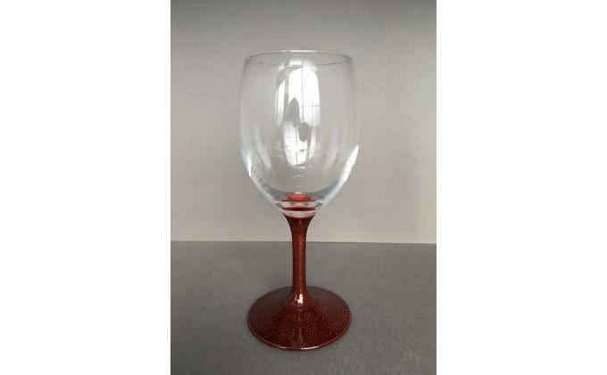 ワイングラス 花吹後藤塗