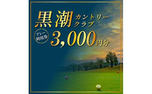 kochi黒潮カントリークラブ ご利用券 3,000円