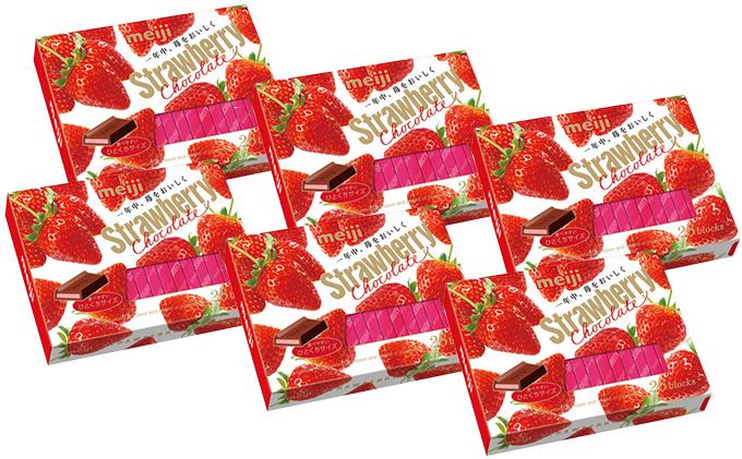 【明治】ストロベリーチョコレートBOX 6個セット