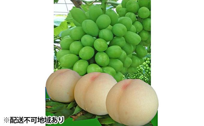 ●先行予約受付●赤磐市産 清水 白桃 3玉/ シャインマスカット 1房 約1.5kg
