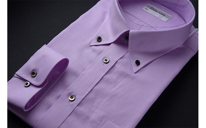 オーダーワイシャツOBP -オリジナルネーム入り川西町産「黒蝶貝」の貝ボタンを使用-