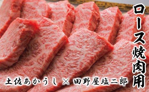 【四国一小さなまち】土佐あかうしロース焼き肉用800g田野屋塩二郎の完全天日塩(肉用)