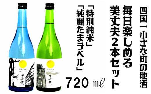 【四国一小さな町の地酒】美丈夫 毎日楽しめる720 2本セット