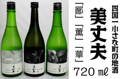 【四国一小さなまちの地酒】 美丈夫 720ml 飲み比べセットB