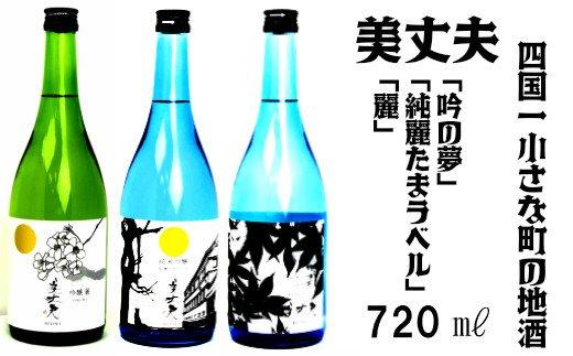 【四国一小さなまちの地酒】 美丈夫 720ml 飲み比べセットC